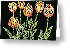 Tulips Bedazzled Greeting Card by R  Allen Swezey