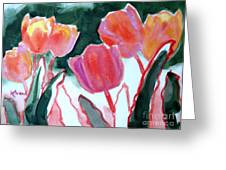 Tulips For The Love Of Patches Greeting Card by Kathy Braud