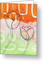 Tulips Greeting Card by Linda Woods
