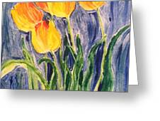 Tulips Greeting Card by Sherry Harradence