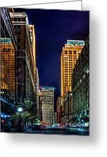 Tulsa Nightlife Greeting Card by Tamyra Ayles