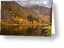 Tumwater Canyon Fall Serenity Greeting Card by Mike Reid