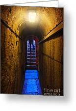 Tunnel Exit Greeting Card by Carlos Caetano