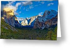 Tunnel View Greeting Card by Mark Whitt