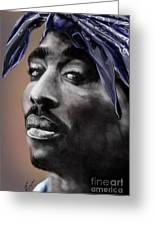 Tupac - The Tip Of The Iceberg Greeting Card by Reggie Duffie