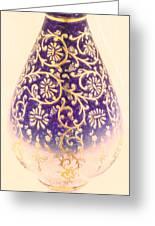 Turkish Vase 1 Crayon Greeting Card by MotionAge Designs