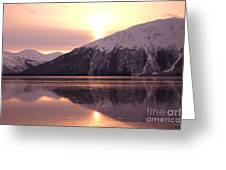 Turnagain Arm Morning Greeting Card by Crystal Magee