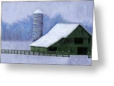 Turner Barn in Brentwood Greeting Card by Janet King