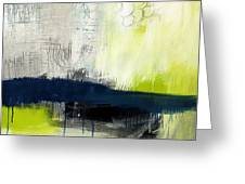 Turning Point - contemporary abstract painting Greeting Card by Linda Woods