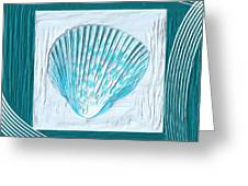 Turquoise Seashells Xxiii Greeting Card by Lourry Legarde