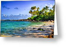 Turtle Beach Greeting Card by Kelly Wade