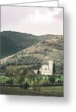 Tuscan Church Greeting Card by Clint Brewer