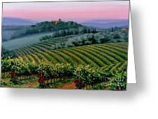 Tuscan Dusk Greeting Card by Michael Swanson