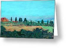 Tuscan Farm Greeting Card by Allan P Friedlander