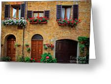 Tuscan Homes Greeting Card by Inge Johnsson