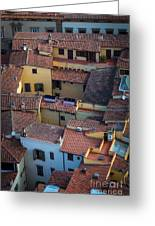 Tuscan Rooftops Greeting Card by Inge Johnsson