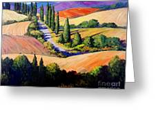 Tuscan Trail Greeting Card by Michael Swanson