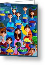 Tutti Frutti Greeting Card by Paul Hilario