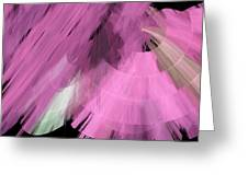TuTu Stage Left Abstract Pink Greeting Card by Andee Design