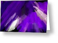 Tutu Stage Left Abstract Purple Greeting Card by Andee Design