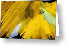 Tutu Stage Left Abstract Yellow Greeting Card by Andee Design