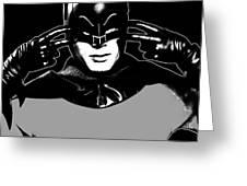 Tv Batman Adam West Greeting Card by Tony Rubino