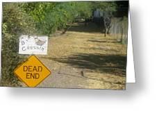 Tv Movie Homage Killer Bees 1974 B's Crossing Black Canyon City Arizona 2004 Greeting Card by David Lee Guss