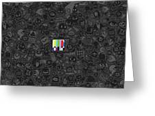 Tv Noise Greeting Card by Gianfranco Weiss