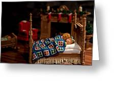 Twas The Night Before Christmas Greeting Card by Karen Wiles
