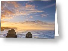 Twelve Apostles Sunrise Great Ocean Road Victoria Australia Greeting Card by Colin and Linda McKie