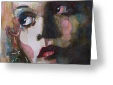 Twiggy Where Do You Go My Lovely Greeting Card by Paul Lovering