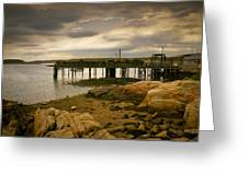Twilight Cape Porpoise Maine Greeting Card by Bob Orsillo