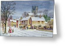 Twilight In The Village Greeting Card by Stanley Cooke