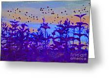 Twilight Meadow Magic Greeting Card by First Star Art