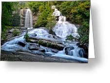 Twin Falls South Carolina Greeting Card by Frozen in Time Fine Art Photography