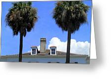 Twin Palms South Battery Greeting Card by Randall Weidner