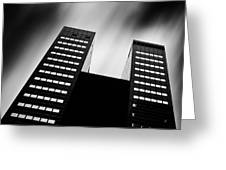 Twin Towers Greeting Card by Dave Bowman