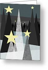 Twinkle Greeting Card by Val Arie