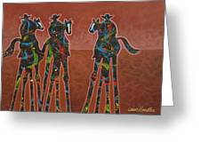 Two Against One Greeting Card by Lance Headlee