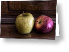 Two Apples Greeting Card by Leonardo Marangi