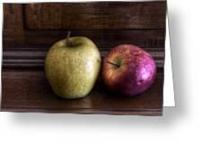 Two Apples Greeting Card by Leonardo Marangi