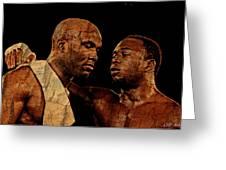 Two Boxers Greeting Card by Lynda Payton