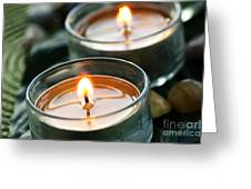 Two Candles Greeting Card by Elena Elisseeva