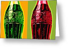 Two Coke Bottles Greeting Card by Gary Grayson