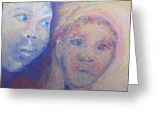 Two Faces Greeting Card by Cherie Sexsmith