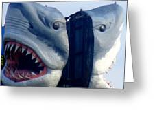 Two Headed Shark Greeting Card by Randall Weidner
