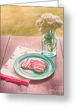 Two Hearts Picnic Greeting Card by Kay Pickens