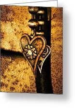 Two Hearts Together Greeting Card by Randi Grace Nilsberg