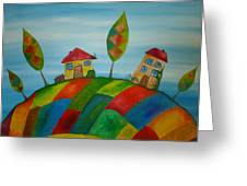 Two Houses Greeting Card by Beata Dagiel