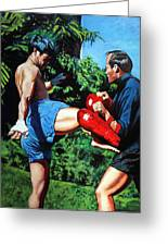 Two Masters Greeting Card by Mike Walrath